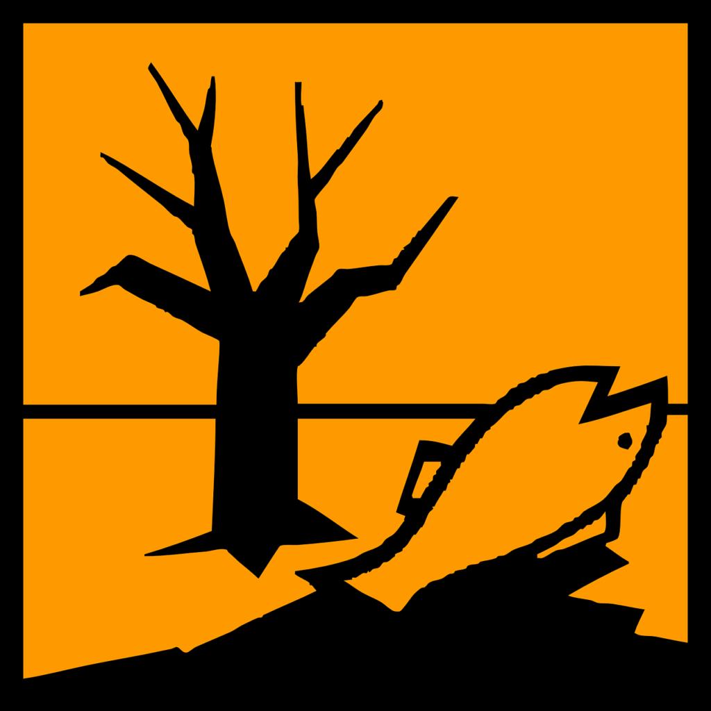 Gefahrenzeichen umweltgefährdend, Herkunft Pixabay